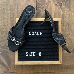 Coach Logo Kitten Heel Shoes